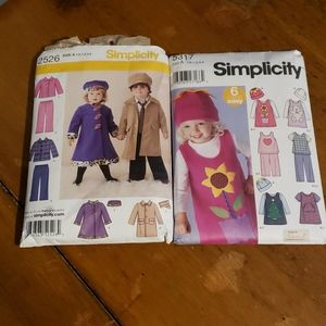 X2 Simplicity Crafts Kids Clothing Patterns